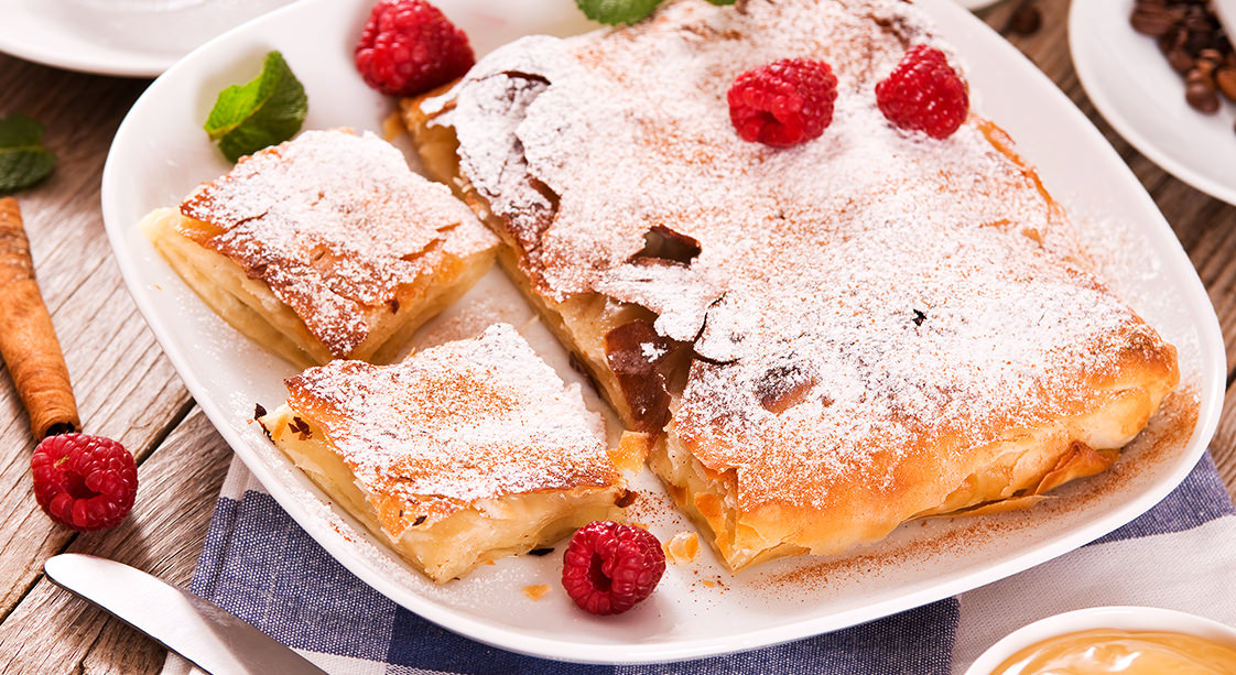 Bougatsa Greek-Style Custard Pastry