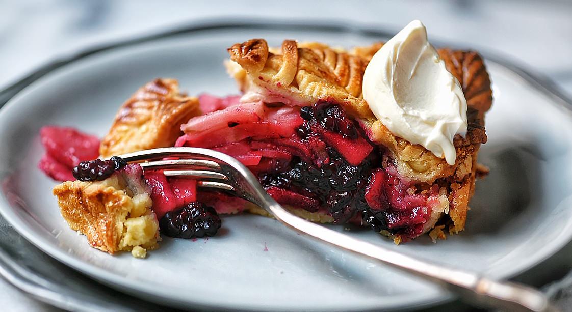 Apple and Blackberry Pie Recipe by Claudia Anton