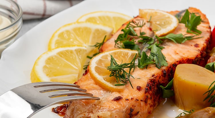 Blog Image Baked Salmon with Lemon and Coriander