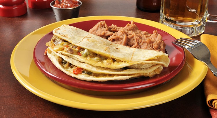Blog Image Quesadillas with Homemade Refried Beans