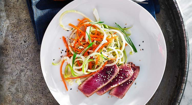 Seared Tuna with Kohlrabi Salad Recipe by KitchenAid