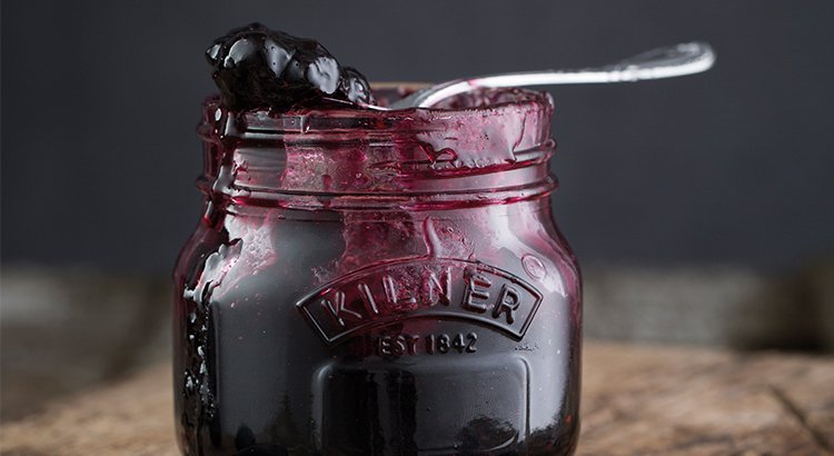 Kilner blueberry jam