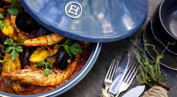 Seafood and eggplant tagine