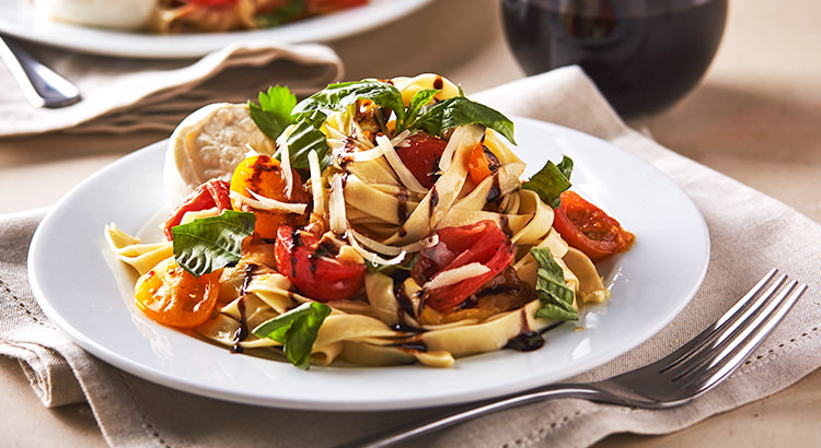 Fettucine with Heirloom Tomatoes and Burrata Cheese Recipe by KitchenAid