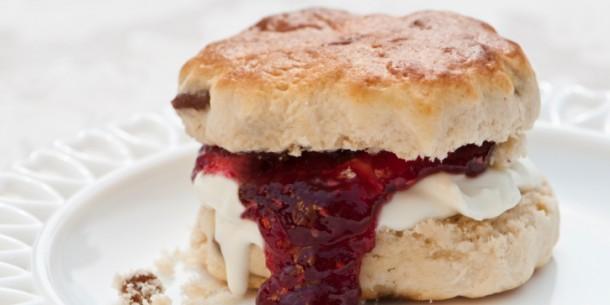 Fruit Scone with Jam and Cream