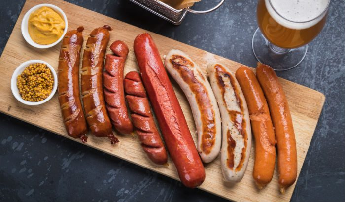 Different German sausages