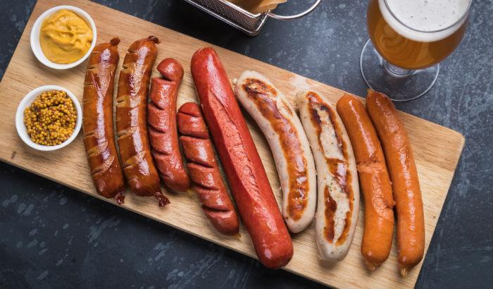 Different German sausages