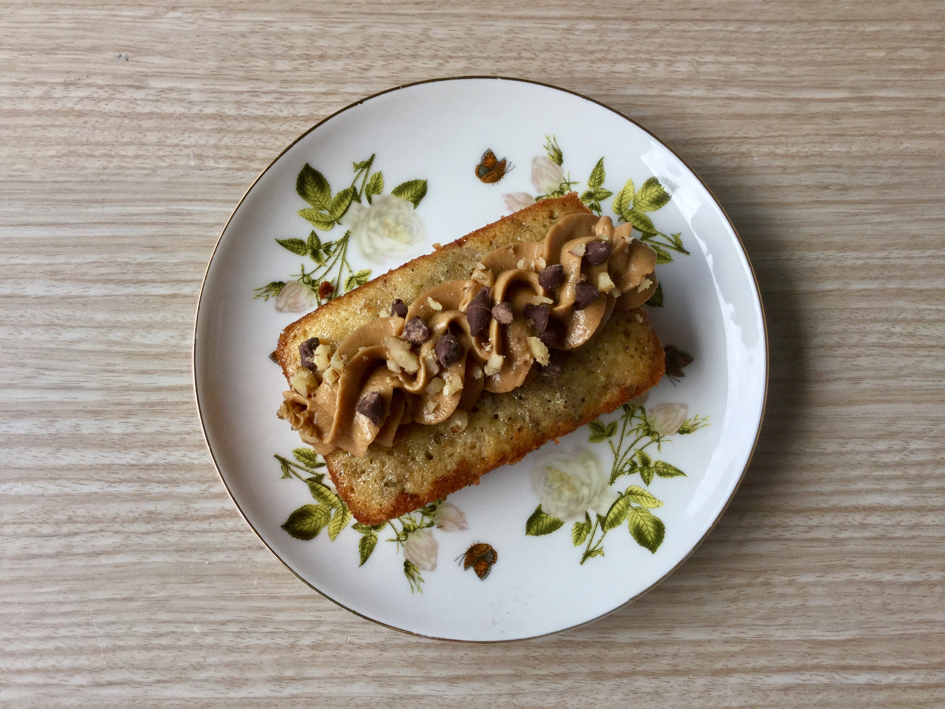 Mini Banana Bread with Coffee Cream Cheese Frosting