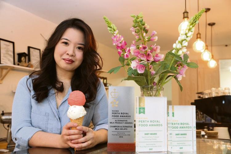 Gelatier Cheryl Lim of The Milk Barrel