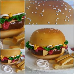 Step 6 Hamburger Cake