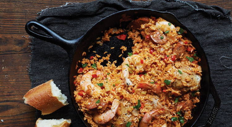 Chicken and prawn Jambalaya by Lodge