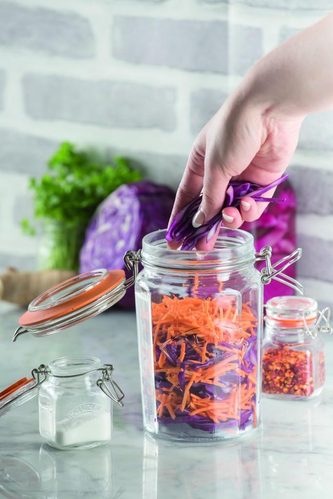 Kimchi in Kilner clip top jar