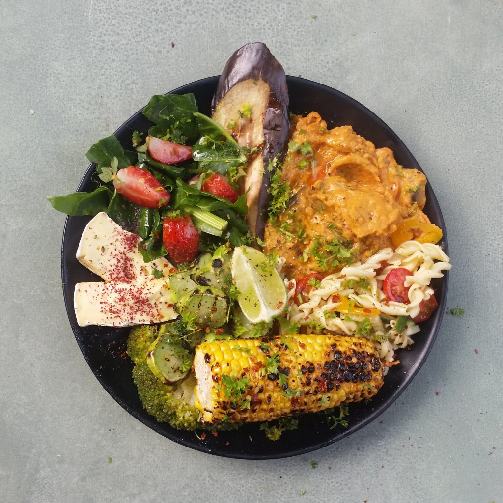 Leftover Lovers mezze plate with Sri Lankan-style curry