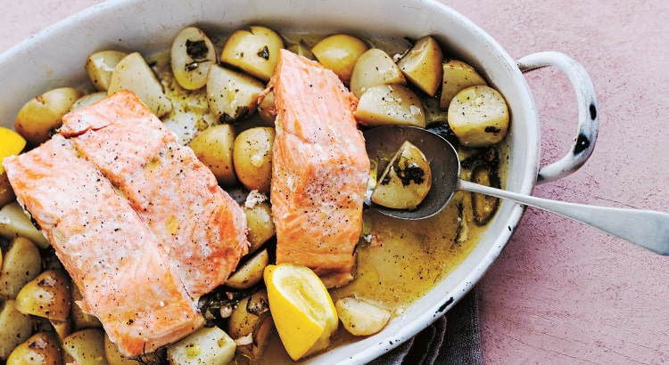 Poached Salmon with Verjuice Recipe