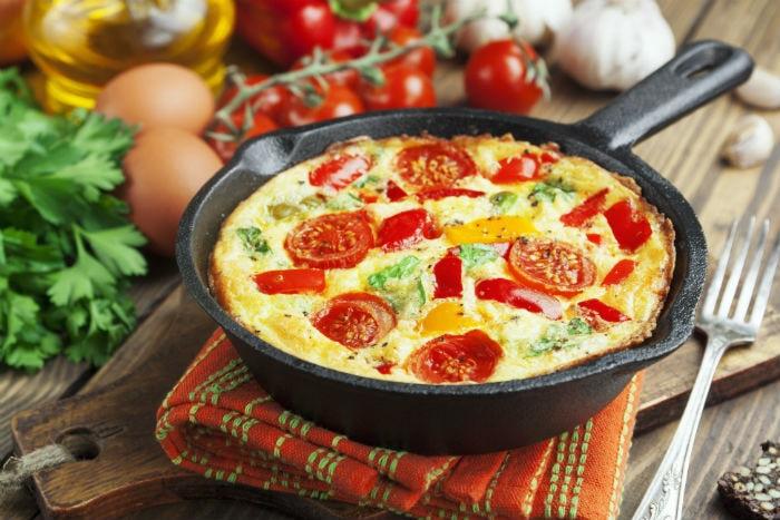 Roast Vegetable Frittata Recipe Our Table