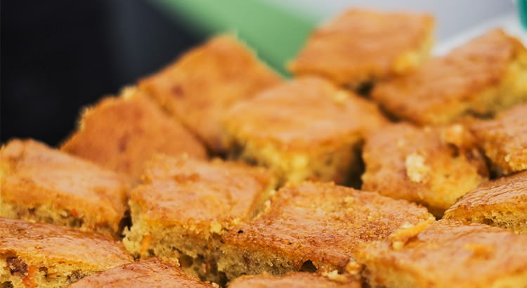 Zucchini Orange and Walnut Syrup Cake