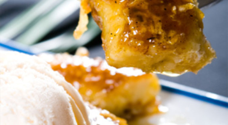banana fritters ice cream