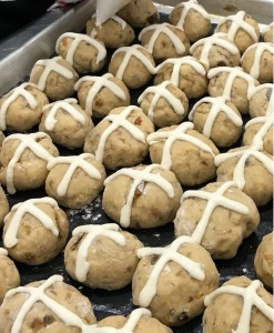 Mini hot cross buns by Sarah Kitchen Warehouse Midland