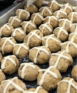 Mini hot cross buns by Sarah Kitchen Warehouse Midland