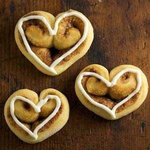 Heart-Shaped Cinnamon Rolls